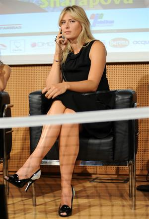 Maria Sharapova attends a press conference to present Saturday's exhibition match Milan November 30, 2012