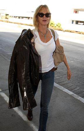 Melanie Griffith arrives at LAX airport 9/28/12