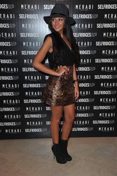 Michelle Keegan Merabi Launch - October 24, 2012