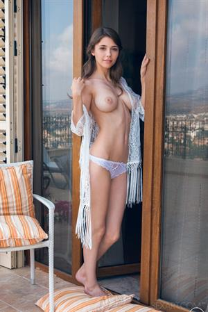 Mila Azul in  Nogeti  for SexArt - Mila Azul proudly showcasing her nubile body with a sweet smile on her pretty face