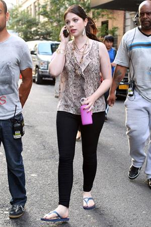 Michelle Trachtenberg - On the set of  Gossip Girl  in New York City - August 10, 2012