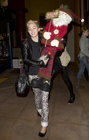 Miley Cyrus Leaving Rite Aid in Studio City on December 22, 2012