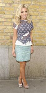 Mollie King London fashion week on February 20, 2012