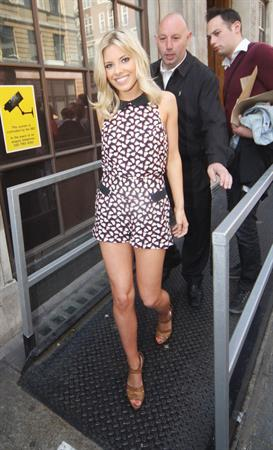 Mollie King leaving the BBC radio 1 on May 19, 2011