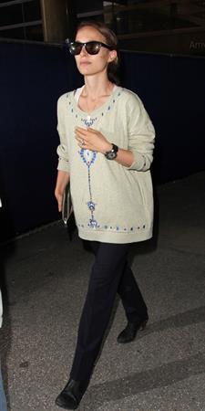 Natalie Portman arrives at LAX Airport - May 30, 2013