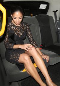 Nicole Scherzinger leaving Annabel's private members club October 2, 2012