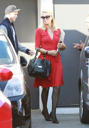 Paris Hilton and River Viiperi leave a shopping trip where Paris gets into her red Ferrari February 13, 2013