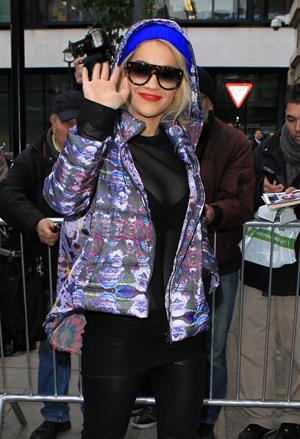 Rita Ora at BBC Radio 2 in West London 11/19/12