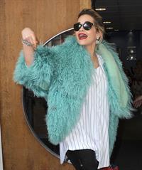 Rita Ora - Arriving to BBC Maida Vale Studios in London August 10, 2012
