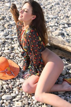 Lorena B nude at the lake