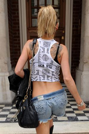 Sarah Harding walking in London on July 12, 2012