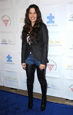 Sarah Shahi Blue Tie Blue Jean Ball in Beverly Hills November 29, 2012