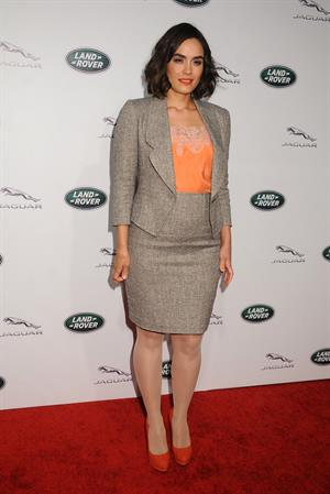 Shannyn Sossamon helps Jaguar and Land Rover celebrate the rollout of new models in Los Angeles, November 27, 2012