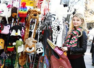 Stefanie Scott on holiday in NY 12/28/12