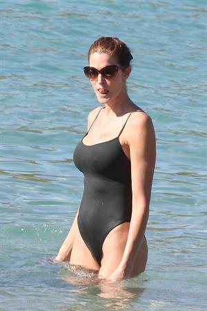 Stephanie Seymour - bikini in St. Barts 12/26/12