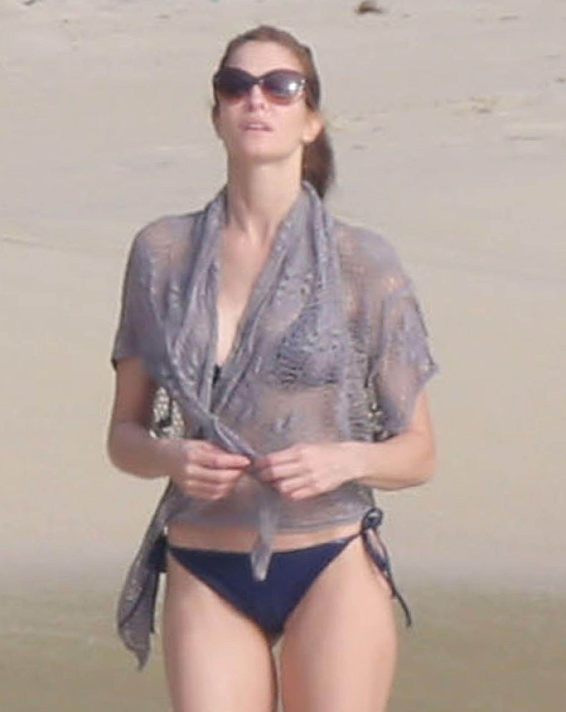 Stephanie Seymour bikini candids on the beach in St. Barts 12/22/12 Thebeach