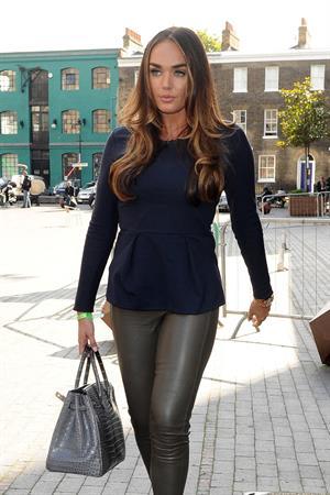 Tamara Ecclestone leaving an office building in London October 4, 2012