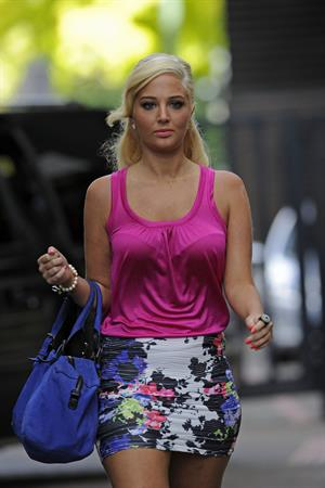 Tulisa Contostavlos - Leaving Studio in London September 11, 2012