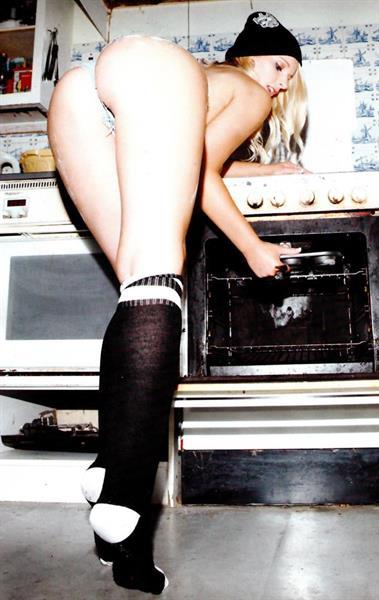 Jessica Davies in lingerie - ass