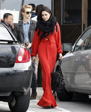 Vanessa Hudgens - headed to church in Hollywood 12/30/12