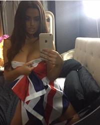 Abigail Ratchford taking a selfie