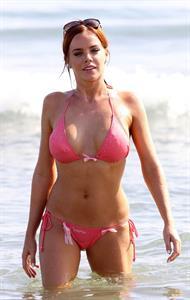 Maria Fowler in a bikini