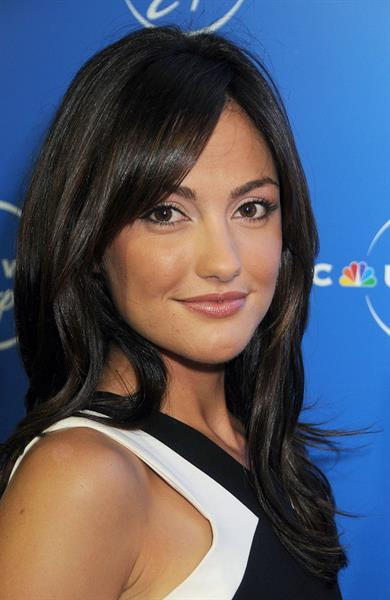 Minka Kelly NBC Universal Experience at Rockefeller Center as part of Upfront Week on May 12, 2008