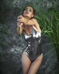 Lidia Savoderova in a bikini