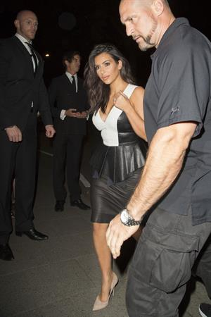 Kim Kardashian at Liberty Ross Party at Annabel's in Mayfair September 3, 2014
