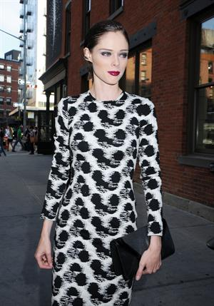 Coco Rocha at Christian Siriano fragrance launch downtown in New York City on September 3