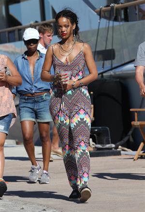 Rihanna in Calvi, Corsica