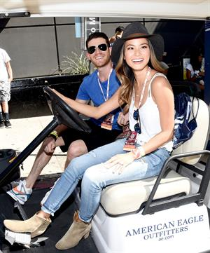 Jamie Chung at the 2014 Budweiser Made in America Festival in Los Angeles on August 30, 2014