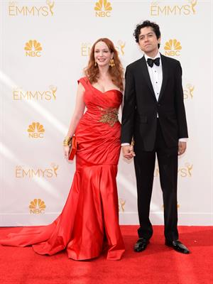 Christina Hendricks at the 66th annual Primetime Emmy Awards, August 25, 2014