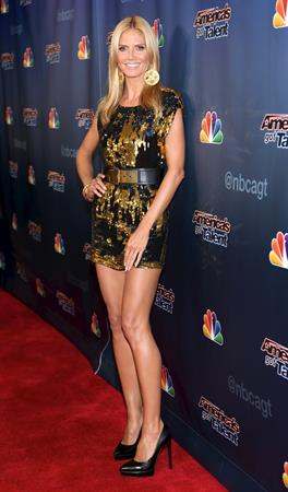 Heidi Klum at the America's Got Talent season 9 post show red carpet event.  August 20, 2014