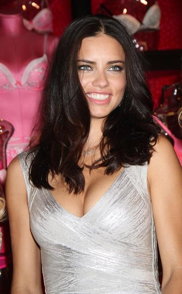 Adriana Lima at Victoria's Secret Valentines Day promotional event at Victorias Secret Soho in New York