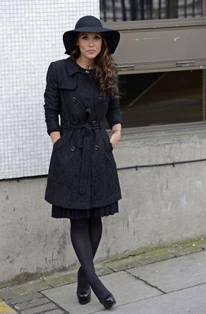 Myleene Klass Outside London Studios - Jan 22, 2013