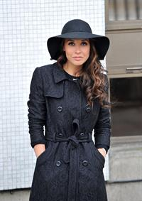 Myleene Klass Outside London Studios - Jan 22, 2013
