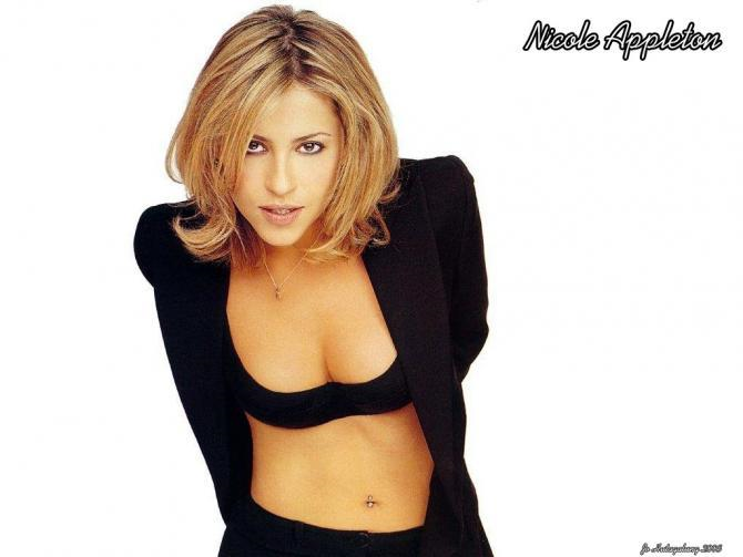 Nicole Appleton in lingerie