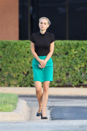 Natalie Portman ...filming on set in Austin Sept 30, 2012