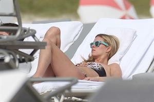 Nicky Hilton Hotel pool in Miami - December 31, 2012