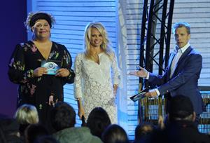 Pamela Anderson Attends the TV Show Promi Big Brother in Berlin 24.09.13