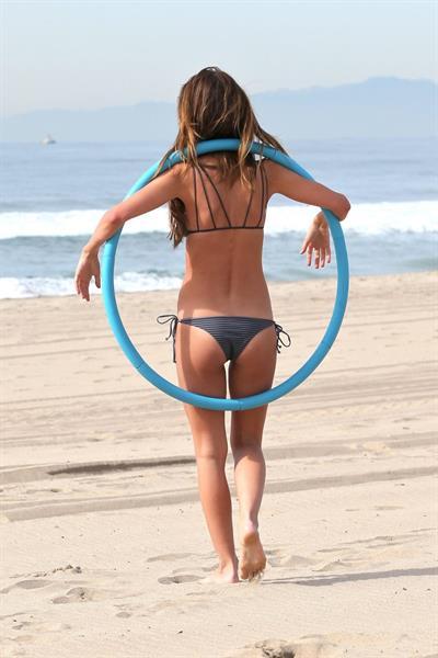 Audrina Patridge in a bikini - ass