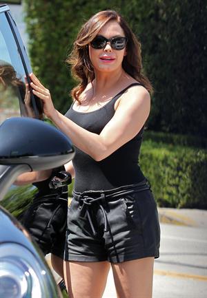 Rose McGowan - Left a hair salon in West Hollywood California 23.08.12