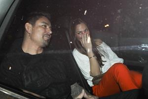 Minka Kelly leaving Madeo restaurant Los Angeles on March 24, 2012