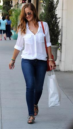 Minka Kelly out and about in Beverly Hills on June 6, 2012