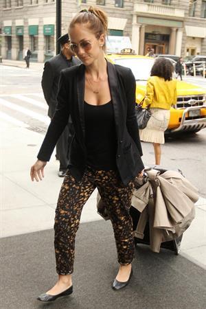 Minka Kelly outside her hotel New York City 3/5/2012