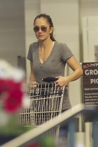 Minka Kelly grocery shopping in Los Angeles 1/14/13