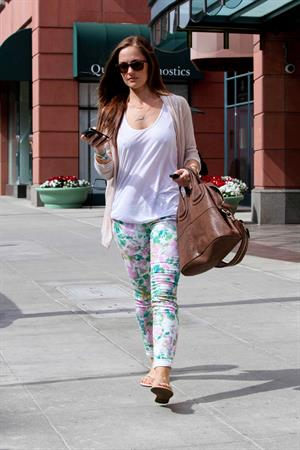 Minka Kelly leaving a spa in Beverly Hills on March 15, 2012