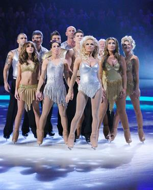 Pamela Anderson Appears in the TV Show Dancing on Ice, UK 06/01/13