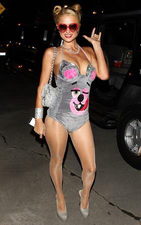 Paris Hilton  Playboy Mansion Halloween Party in Los Angeles October 26, 2013